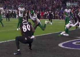 Lamar Jackson slings impressive 5-yard TD pass to Miles Boykin
