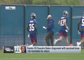 Tom Pelissero offers timetable for Giants rookie CB Deandre Baker's return from knee sprain