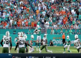 Miami Dolphins defense has 4 sacks and 4 interceptions vs. New York Jets