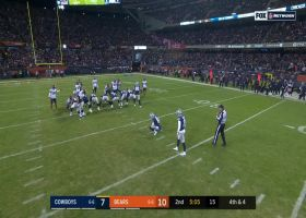 Maher's 42-yard FG try curves completely around the goal post no good