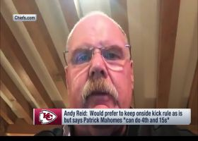 Reid explains why he's against fourth-and-15 alternative to onside kick