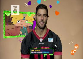 NFL players share their favorite Nick shows | 'NFL Slimetime'