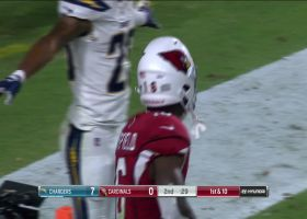 Hundley's rainbow pass results in toe-tap TD