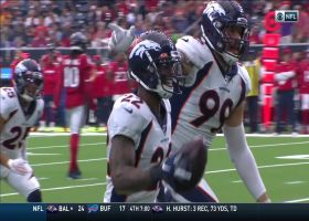 Broncos play 'Hot Potato' for Kareem Jackson's second INT against former team