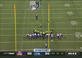 Jason Myers drills 36-yard FG to extend Seahawks' lead to seven