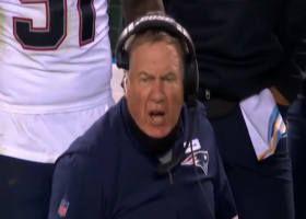 Belichick is HEATED after officials call third-down play a sack