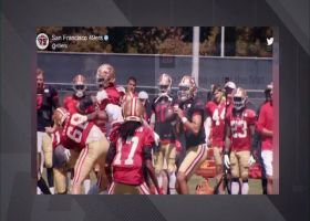 Camp highlight: Trey Lance dials launch codes to Trent Sherfield at 49ers practice