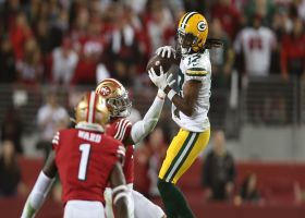 Rodgers is PUMPED after clutch third-down throw creates game-winning FG opportunity