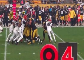 Bengals swarm James Conner in the backfield for fourth-down stop