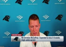 McCaffrey breaks down how his high-ankle injury worsened throughout Week 2 game