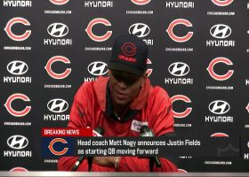 Justin Fields shares how his family reacted to him being named Bears' QB1