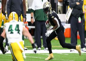 Kamara ditches defender with swift move for 8-yard catch and run