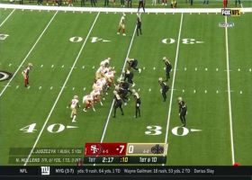 Mullens drops a DIME to Dwelley for lunging 22-yard grab