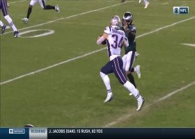 Burkhead breaks free for 30 yards after grabbing Brady's improv throw
