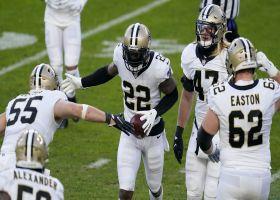 Gardner-Johnson hauls in Hinton's overthrow for Saints' third takeaway