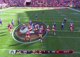 Jimmy G delivers under duress to diving Bourne for third-and-long pickup