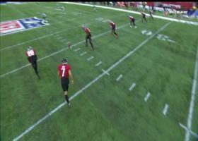Tevin Coleman finds opening for huge 65-yard kickoff return