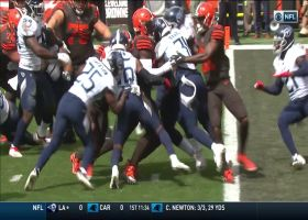 Dontrell Hilliard barrels first NFL rush for a TD