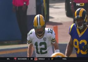 Rodgers hits St. Brown in stride for first down