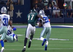 Xavier Woods brings Eagles' drive to an abrupt halt with INT