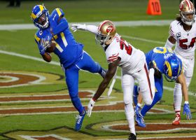 Jared Goff delivers perfect ball to Robert Woods in back of end zone